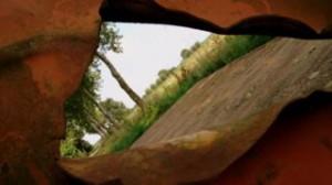 Kelsdonk doorkijk roestige kar